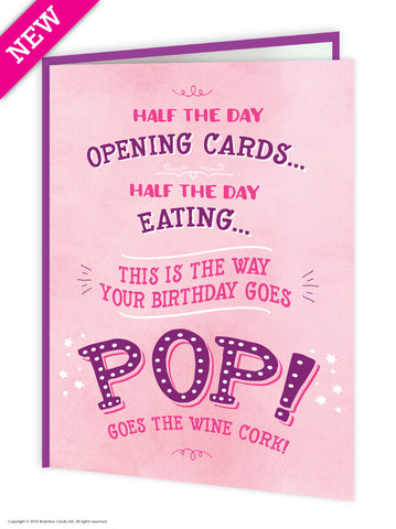 Pop goes the wine cork card