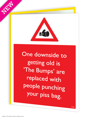 Piss sack card