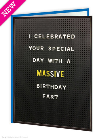 Birthday fart card