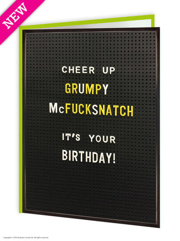 Cheer up grumpy card
