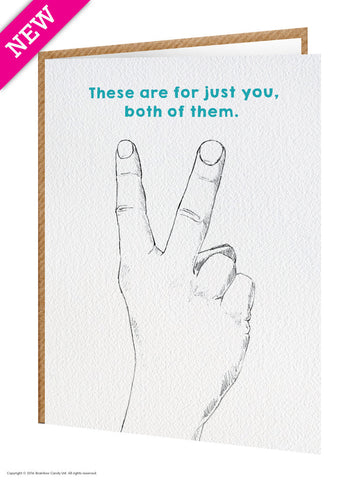 Both fingers card