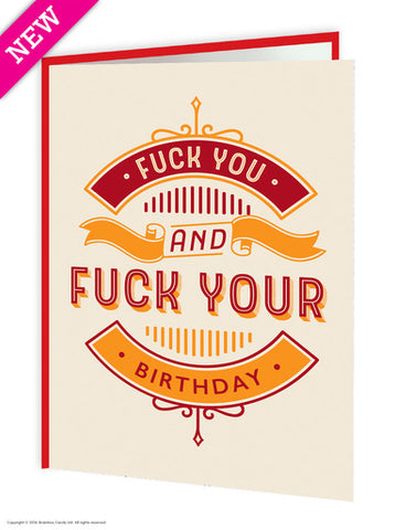 Fuck your birthday card