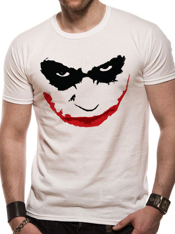 Joker smile wht t-shirt XXL