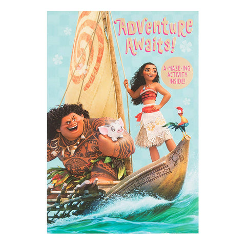 Moana Adventure Awaits card