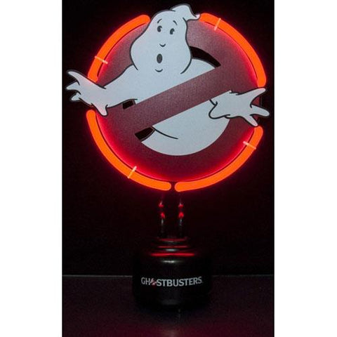 Ghostbuster symbol neon