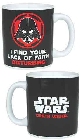 Darth lack of faith mug