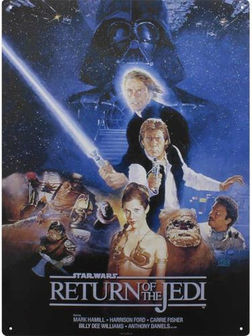 Return of the jedi tin sign