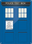 Tardis tin sign