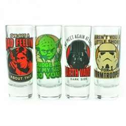 Star Wars shot glasses set of 4