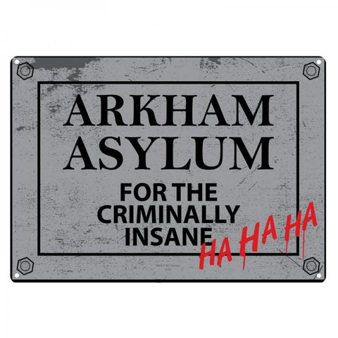 Arkham small tin sign
