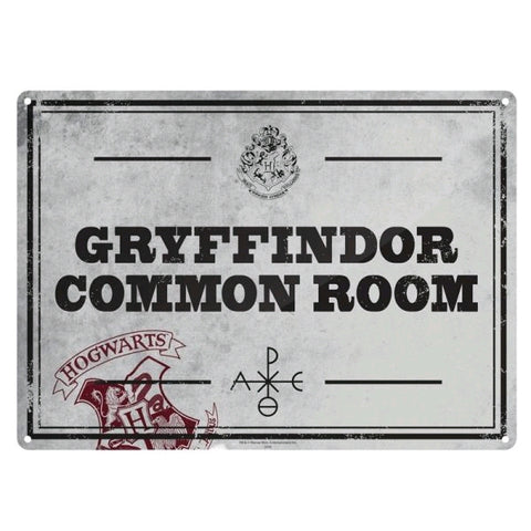 Common room small tin sign