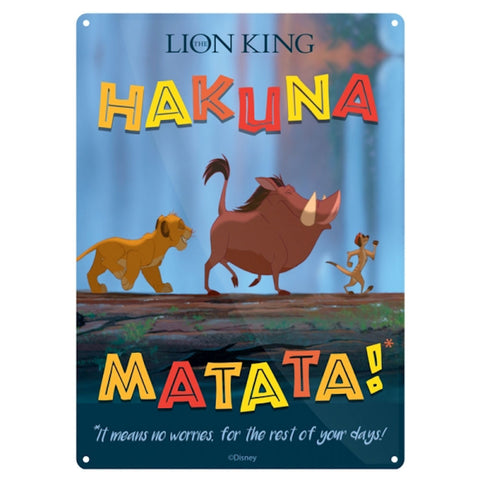 Hakuna matata small tin sign