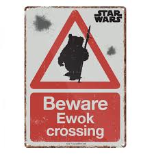 Ewok small tin sign