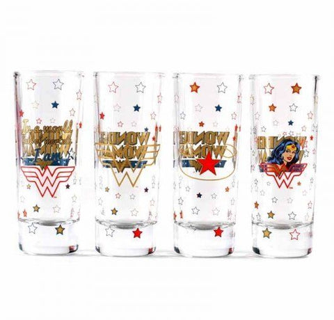 Wonder Woman mini glass set