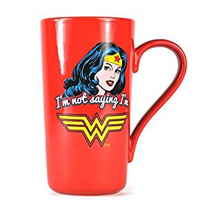 Wonder Woman classic latte