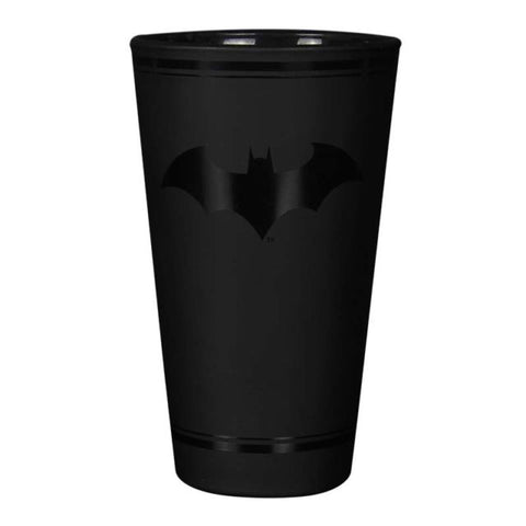 Batman black logo glass