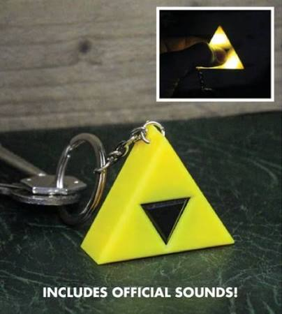 Triforce LED keyring