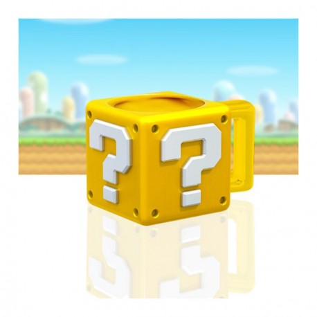 Mario question block mug