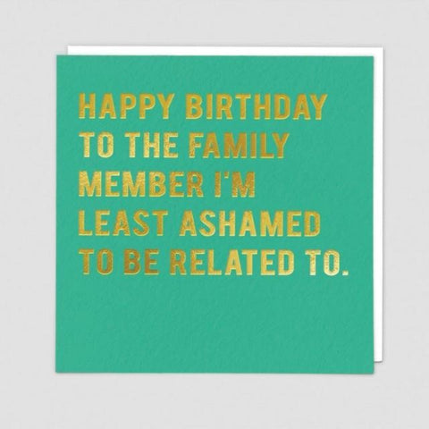 Least ashamed card