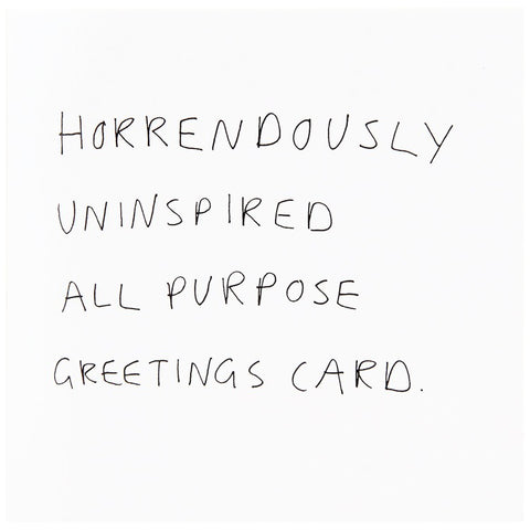 All purpose greetings card