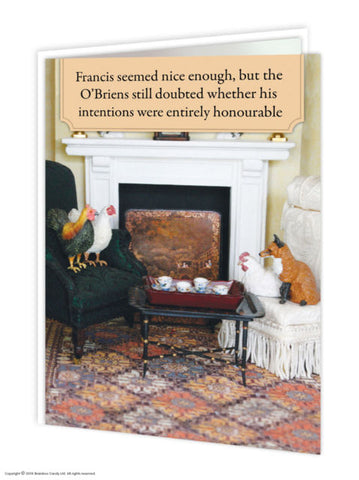 Francis the Fox card