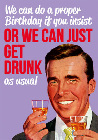 Get drunk as usual card