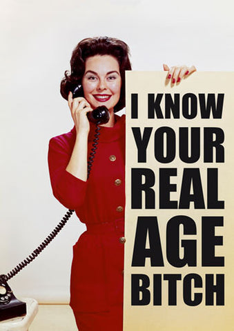 Real age bitch card
