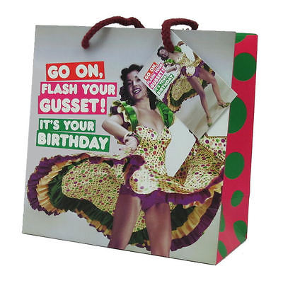 Flash gusset gift bag M