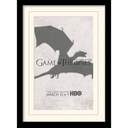 HBO Game of Thrones Dragon framed print