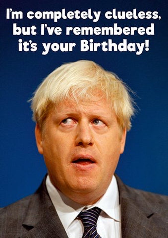 Clueless Boris Card