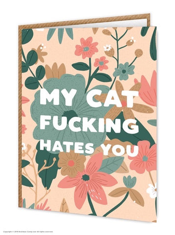 Cat hates you card