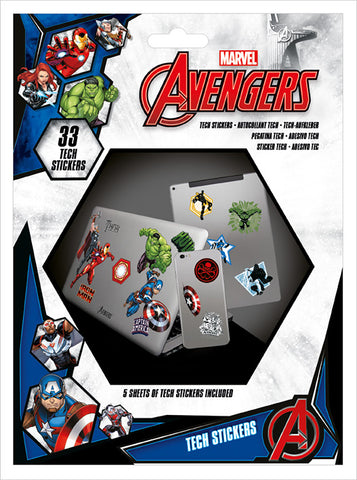 Avengers Heroes Tech Stickers