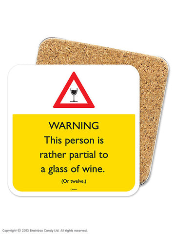 Partial to wine coaster