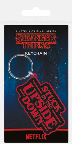 ST Stuck in the Upside Rubber Keychain