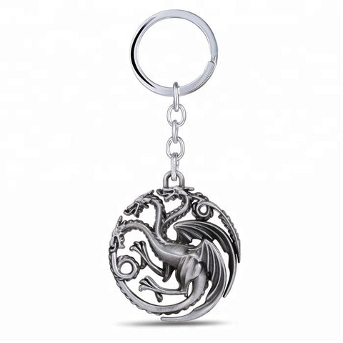 Game of Thrones Targaryen metal keyring