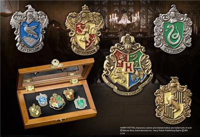 Hogwarts house pin set