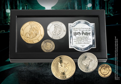 Harry Potter Gringotts bank coins