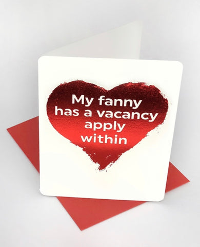 Fanny vacancy mini card
