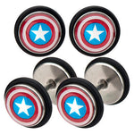 Captain america faux plug