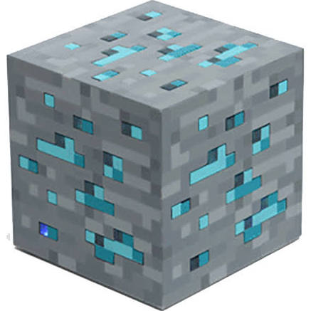 SALE Minecraft blue ore light