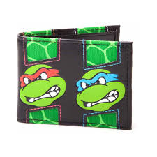 TMNT shell face wallet