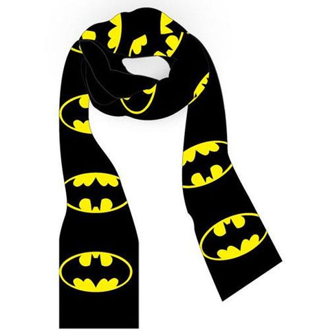 Batman knitted scarf