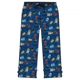 Marvel heads PJ bottoms M