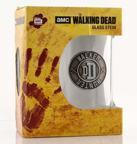 Walking Dead Walker/Hunter glass stein