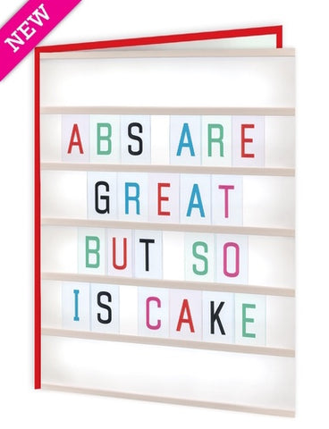 Abs are great-so is cake card