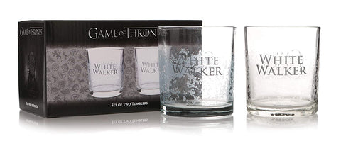 Game of thrones white walker glass set