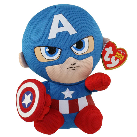 Captain America small TY beanie