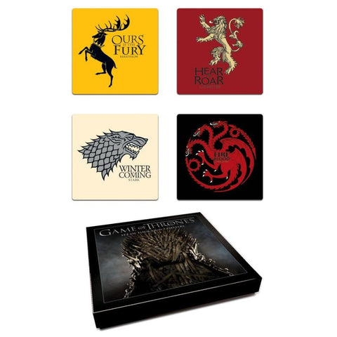 Game of thrones set of house coasters