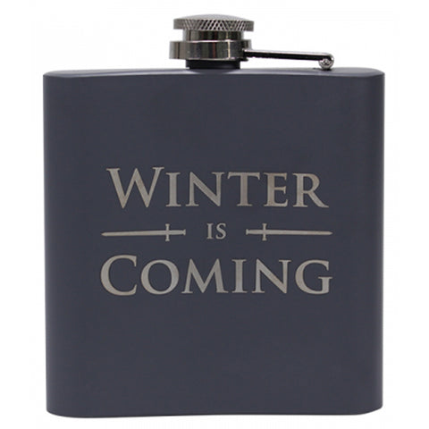 Winter is coming hip flask