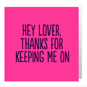 Hey Lover! card